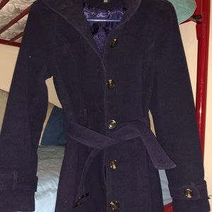 Forever 21 Navy Trench Coat Great Condition